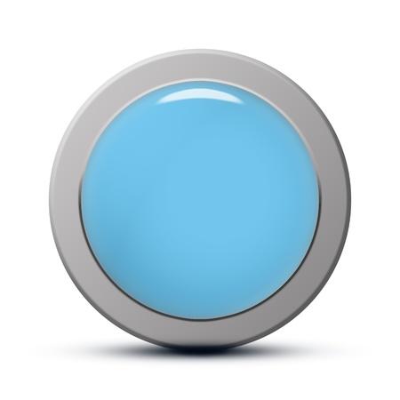 blue round Icon series : clean button Stock Photo - 20010517