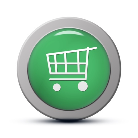 green round Icon series : Purchasing cart button photo
