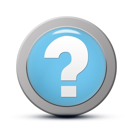 blue round Icon series : Question mark button photo