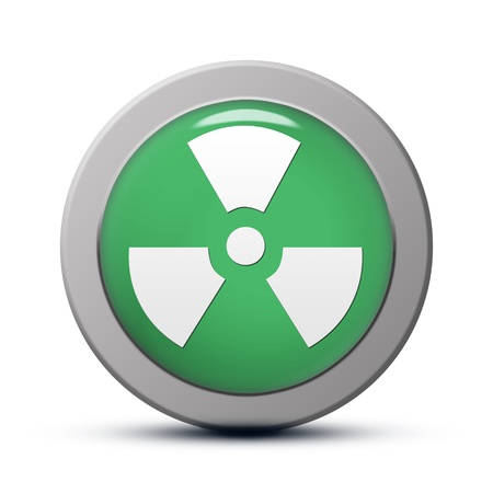 green round Icon series : Radiation button Stock Photo - 20010563