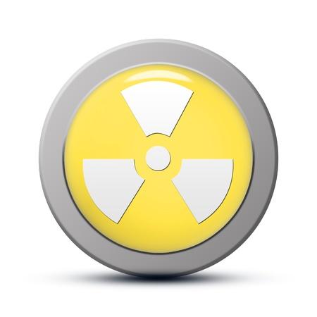 yellow round Icon series : Radiation button Stock Photo - 20010600