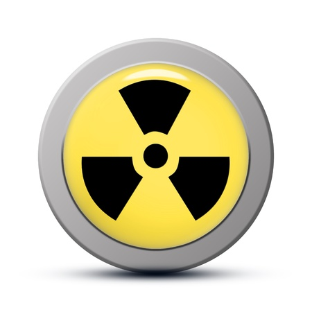 yellow round Icon series : Radiation button Stock Photo - 20010613