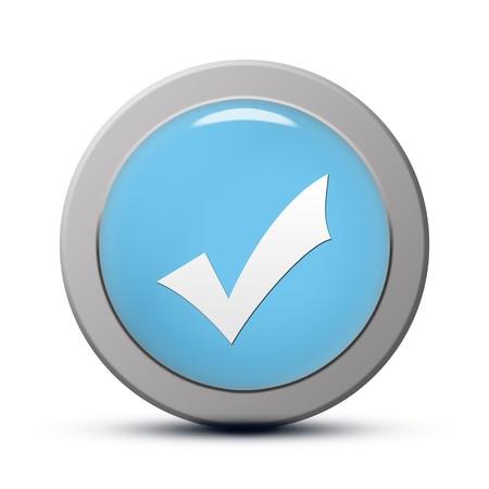 blue round Icon series : Validate button 版權商用圖片