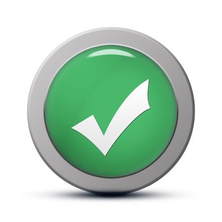 green round Icon series : Validate button Stock Photo - 20010556
