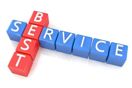 3D Render Crossword concept: Best Service Stock Photo - 20141962