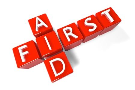 firstaid: Concepto de procesamiento 3D Crucigrama: Primeros Auxilios