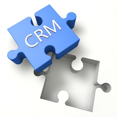 3d Puzzle concept: CRM - Customer Relationship Management photo