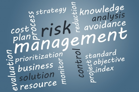 risiko: Business concept: Risk management in word tag cloud