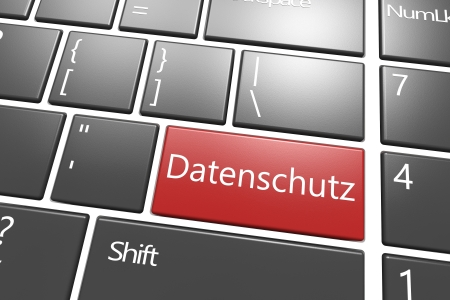 disclosure: Security Concept: modern keyboard with a red Datenschutz key - the german word for data protection