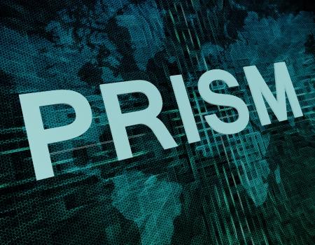 Words on digital world map concept: Prism