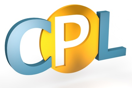 cpl: acronym concept: CPL for Cost per Lead isolated on white background