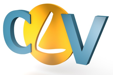 lifetime: acronym concept: CLV for Customer Lifetime Value isolated on white background Stock Photo
