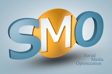 acronym concept: SMO for Social Media Optimization on blue background Stock Photo - 21411722