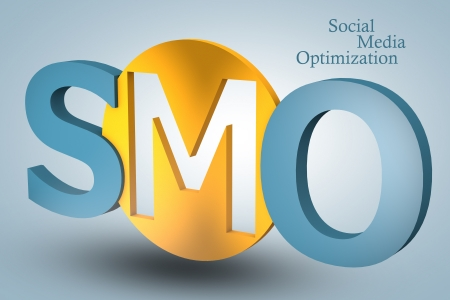 acronym concept: SMO for Social Media Optimization on blue background photo