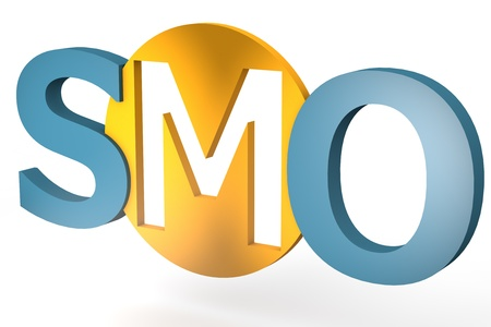 acronym concept: SMO for Social Media Optimization isolated on white background Stock Photo - 21411725