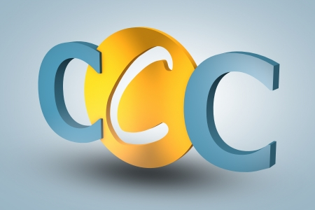 acronym concept: CCC for Customer Care Center on blue background photo