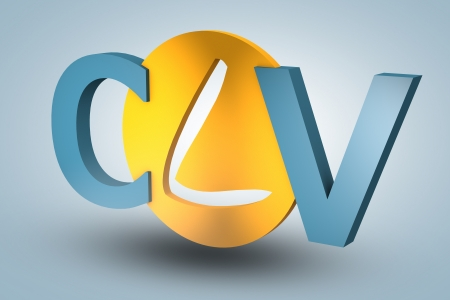 lifetime: acronym concept: CLV for Customer Lifetime Value on blue background Stock Photo