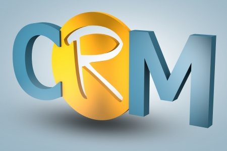 acronym concept: CRM for Customer Relationship Management on blue background photo