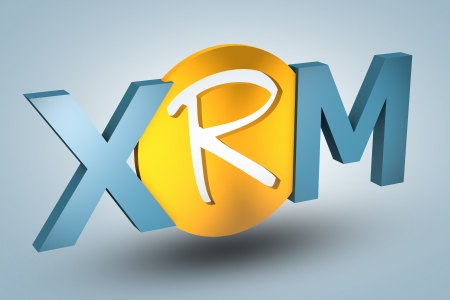 acronym concept: XRM for Extended Relationship Management on blue background photo