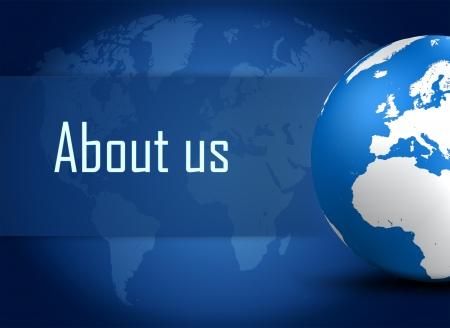 블루 세계지도 배경에 글로브와 함께 소개 개념 스톡 콘텐츠