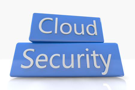 Blue box concept: Cloud Security on white background Stock Photo - 22821049