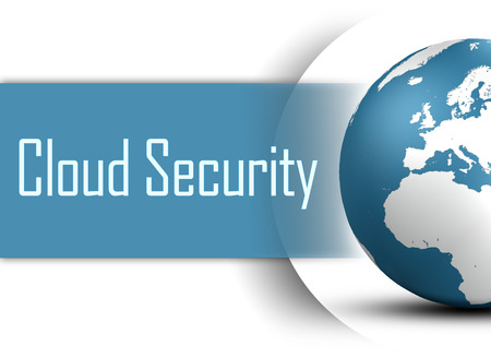 Cloud Security concept with globe on white background Stock Photo - 22821106