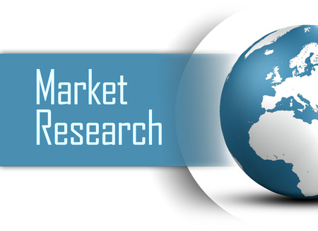 developmental: Market Research concept with globe on white background