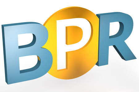 redesign: Business Process Reengineering - acronym 3d render illustration concept