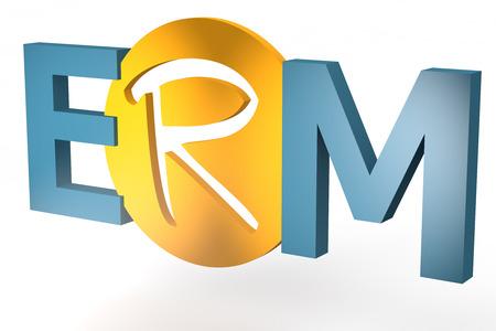 Enterprise RiskResource Management - acronym 3d render illustration concept Stock Photo