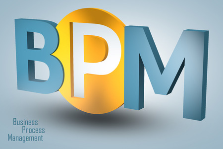 bpm: Business Process Management - acronym 3d render illustration concept
