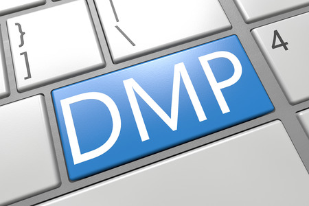debt management: Debt Management Plan - keyboard 3d render illustration with word on blue key