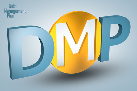 debt management: Debt Management Plan - acronym 3d render illustration concept Stock Photo