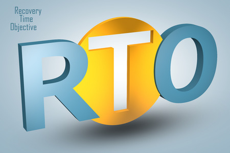 Recovery Time Objective - acronym 3d render illustration concept illustration