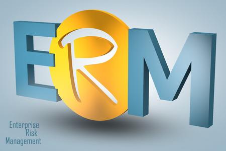Enterprise Risk Management  - acronym 3d render illustration concept