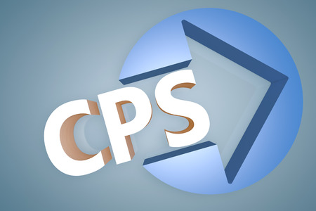 Cost per Sale - acronym 3d render illustration concept with a arrow in a circle on blue-grey background illustration