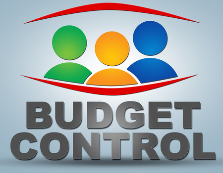 budgets: Budget Control - communication concept with sign and text Stock Photo