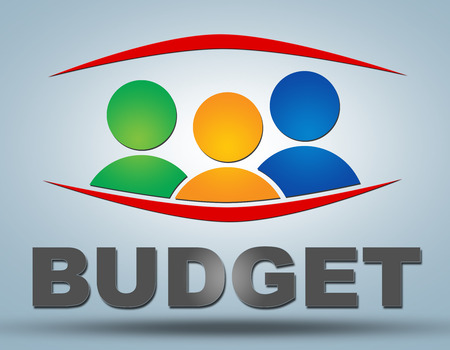 budgets: Budget - communication concept with sign and text