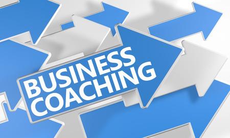 3 d をコーチング ビジネス飛んで白地に青と白の矢印でコンセプトをレンダリングします。 写真素材 - 44030702
