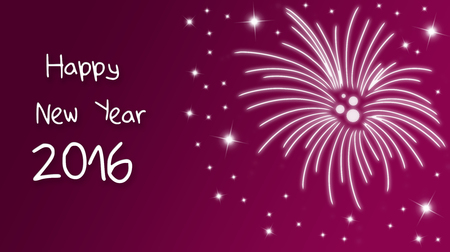 hogmanay: Holiday greeting card for New Years Eve 2016 with fireworks