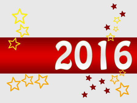 hogmanay: Holiday greeting card for New Years Eve 2016 with stars