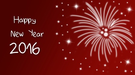 new years eve: Holiday greeting card for New Years Eve 2016 with fireworks