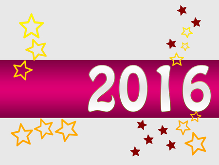 new years eve: Holiday greeting card for New Years Eve 2016 with stars