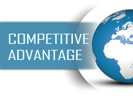differentiation: Competitive Advantage concept with globe on white background Stock Photo