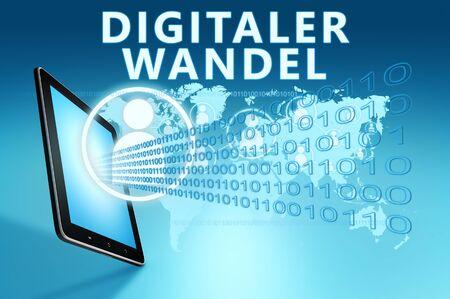 Digitaler Wandel - german word for digital change or digital business transformation