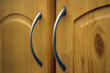 Furniture handles (close-up) Stock Photo