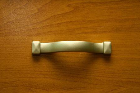Furnitures handle (closeup) Stock Photo