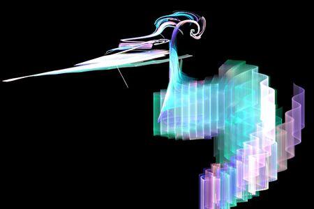 Neon waves - 3d
