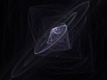 Abstract diamond of smoke 3d rendered.