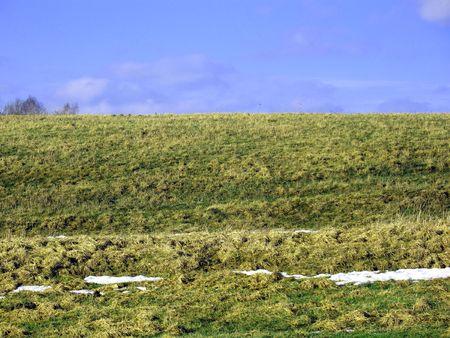 Empty grassland on spring. Stock Photo - 824800