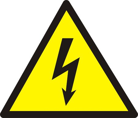 Danger of defeat by an electric current. Large size!